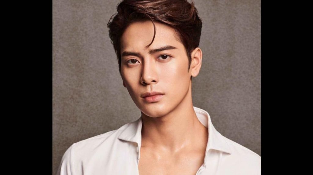 """A promotional photo of Jackson Wang's debut album """"Mirrors"""""""